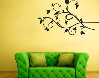 rvz1474 Wall Decal Vinyl Sticker Decals Tree Branch Flowers Birds Bedroom