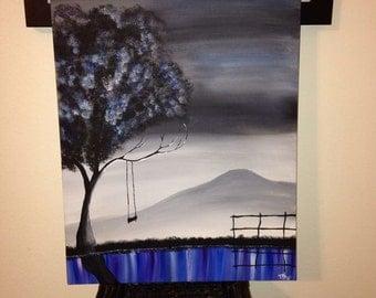 Tree canvas painting