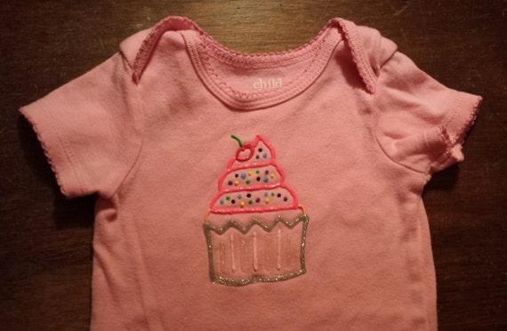 Puffy paint cupcake birthday shirt or onesie Puffy paint shirt designs
