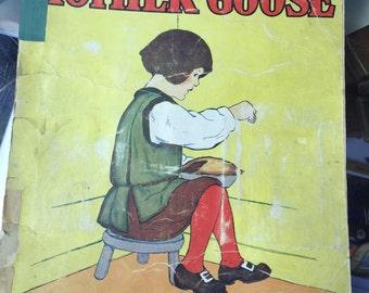 Vintage, Retro, Collectors, children book, Favorites from Mother Goose jack horner
