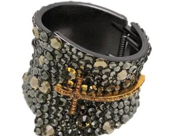 Long Cross Cuff Bracelet