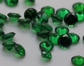 5mm Round Emerald Cubic Zirconia, Loose Stones, Jewelry DIY.