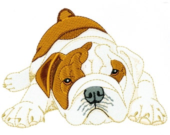 BULLDOG PUPPY - Machine Embroidery Design - dog pet