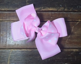 Light pink hairbow
