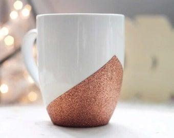 Copper Glitter Mug