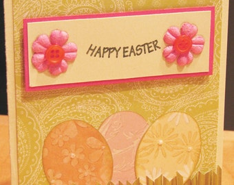 Easter Card, handmade card, Spring card, Happy Easter Card, pastel card, handcrafted card, MADE TO ORDER