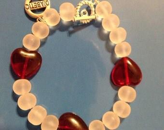 diabetes medical alert bracelet, diabetes jewelry, diabetes awareness, beaded diabetes bracelet