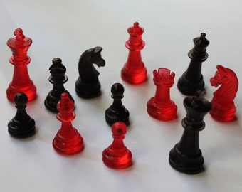 Edible Chess pieces 12 edible chess cake topper isomalt candy topper gum paste chess set fondant