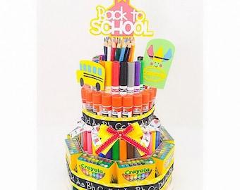 Back To School Gift - Teacher Gift - Supply Cake - School Supply Cake - School Supplies