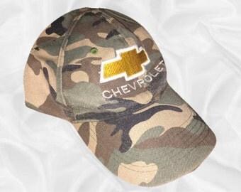 Camouflage Chevrolet Baseball Cap Camo Goth || OS