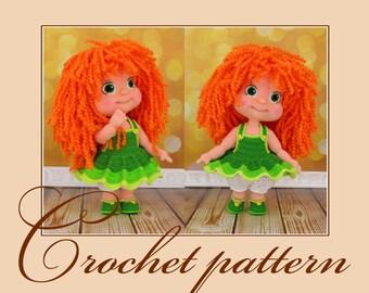 Irinka - Amigurumi Crochet Pattern PDF file by Anna Sadovskaya