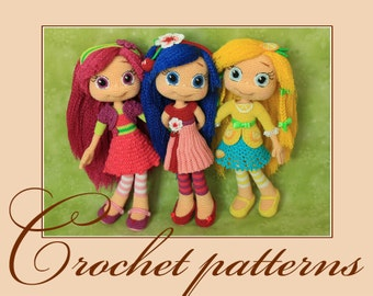 Raspberry Torte, Cherry Jam and Lemon Meringue-Amigurumi Crochet Patterns PDF files by Anna Sadovskaya