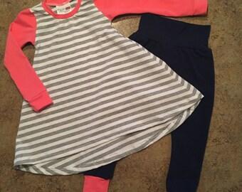 T-Shirt Dress with Super Slim Harems