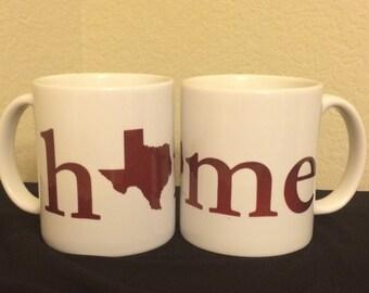 "Texas ""Home"" Coffee Mug"