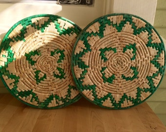 Mexican woven hot plate holders-Wonderful holiday gift for host & hostess!