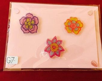 3D flowers handmade card