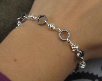 Bicycle Jewelry, Recycled Bicycle Chain Bracelet, Bike Chain Jewelry, Eco Gift