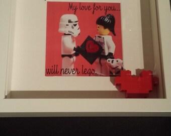 Star Wars lego valentine's frame