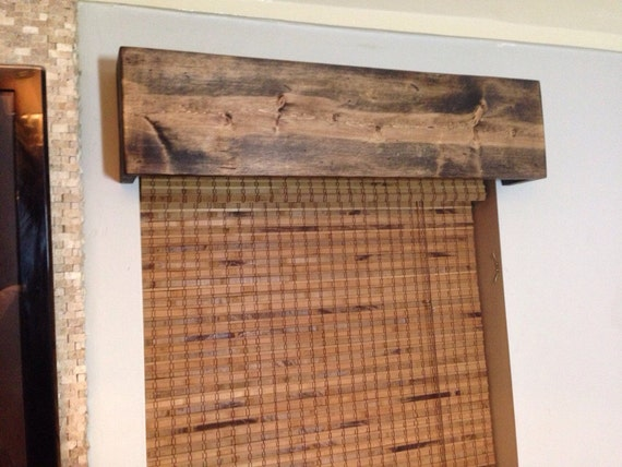 Custom Made Wood Windows : Custom made window valance rustic wood curtain