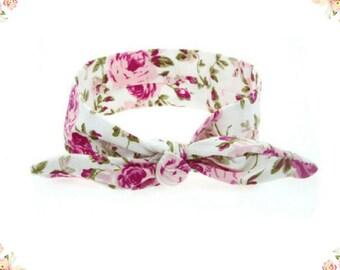 Baby Girl Cloth Turban Knot Headband Flower