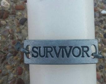 Silver Survivor Bracelet