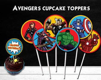 Avengers Cupcake Toppers, Avengers Party, Avengers Printable Toppers