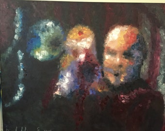 Original oil painting of Irvin Mayfield on canvas.