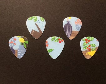 Flower & Vase Guitar Picks