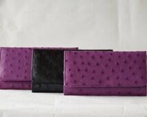 The Olivia Genuine Ostrich Leather Purse