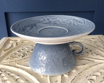 Vintage tea set cake stand