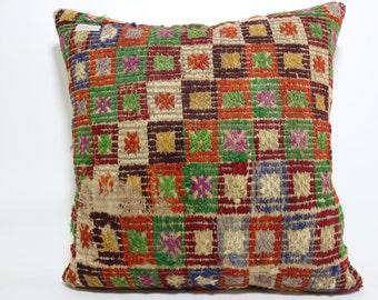 24x24 Turkish Embroidery pillow Bohemian Kilim Pillow Large Floor Cushion Cover Decorative Pillow home decor Boho Pillow Cover SP6060-581