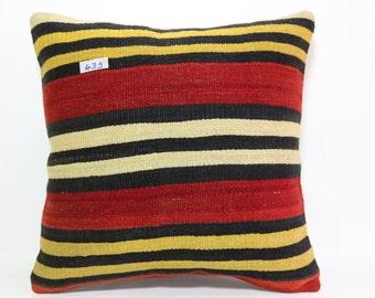 striped kilim pillow 20x20 inches kelim kissen home decor room decor striped pillow bed pillow bohemian pillow cover SP5050-439
