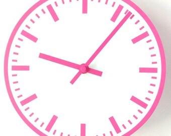 Station WALL CLOCK - Pink