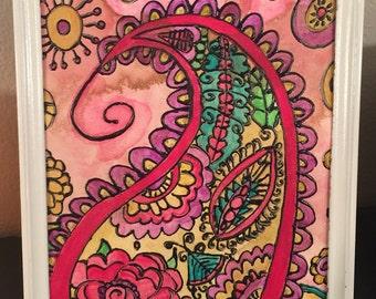 Vintage Glitter- 2015 Paisley