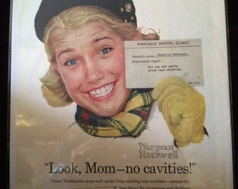 Vintage Ad.  Crest. Norman Rockwell. 1950's.