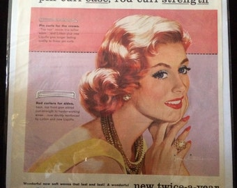 Vintage Ad.  Pin It Perm Kit.  1950's.
