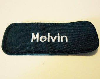 "Vintage ""Melvin"" Name Patch"