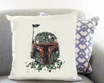 Star Wars Boba Fett Printed Cushion Case The Force Awakens Decor Birthday Gift