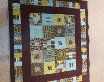 Brown/Green/Blue Quilt