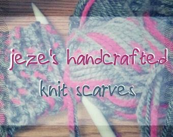 Jeze's HANDMADE KNIT SCARVES