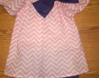 12 month Monogram chevron dress and bloomer