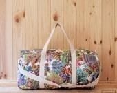 "MAXI large sport bag and ""retro"" travel / Sport & Traveler duffel bag ""retro"" - weekend canvas bag"