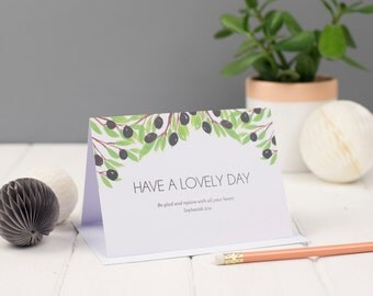 Have a Lovely Day Greeting Card, Encouragement Cards, Friendship Cards