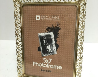 Vintage Decorel Condecor 5x7 Gold Picture Frame