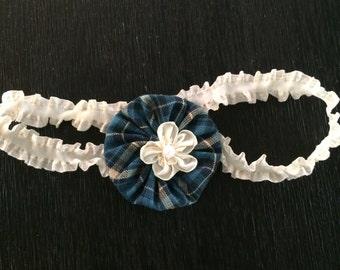 Plaid Blue Headband