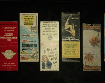 35 ct. 1940's Matchbook Covers