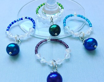 Wine Charms. Set of 4.