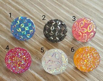 Druzy/Glitter Snap Buttons