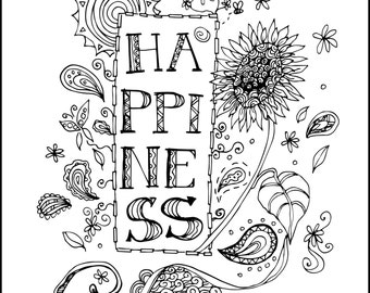 Inspirational Coloring Page Etsy Meditation Coloring Pages