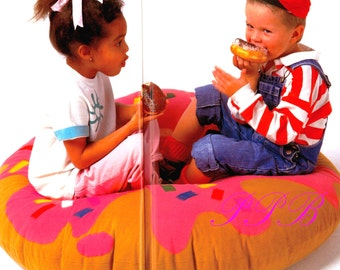 Donut Seat Sewing Pattern ~~ Children's Donut Seat ~~ PDF Sewing Pattern ~~ Fun Floor Cushion ~~ Gift Fair Fete Item ~~ Instant Download.